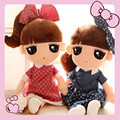 Mamas papas kawaii baby girls Handmade cloth dolls  spongebob soft toys for bouquets birthday gifts baby chinese new year 2017