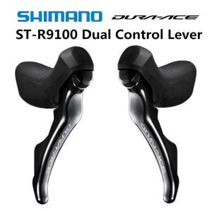 Image 1 - Shimano DURA ACE st r9100 alavanca de controle duplo 2x11 speed dura ace r9100 9100 desviador bicicleta estrada shifter 22s