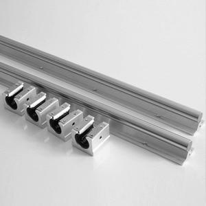 Image 4 - 2 adet SBR16 16mm lineer ray kılavuzu 300 400 500 600 1000 1200 1500 mm tam slayt desteği + 4 adet SBR16UU lineer rulman bloğu