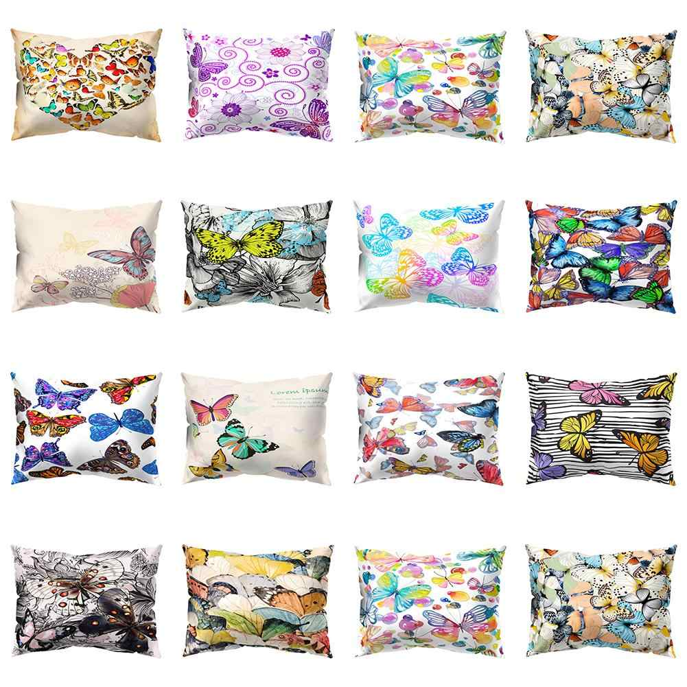 Colorful Butterfly Rectangle Throw Pillow Case Cushion Cover Home Car Decor Set