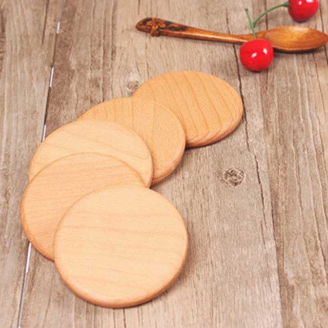 1Pc Natural Wood Coasters