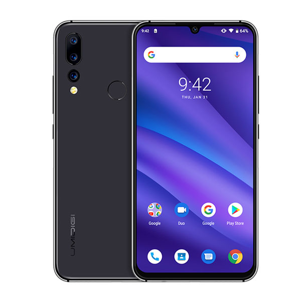 shop with crypto buy Global Version UMIDIGI A5 PRO Android 9.0 Octa Core 6.3' FHD+ Waterdrop 16MP Triple Camera 4150mAh 4GB RAM 4G Celular Smartphone pay with bitcoin