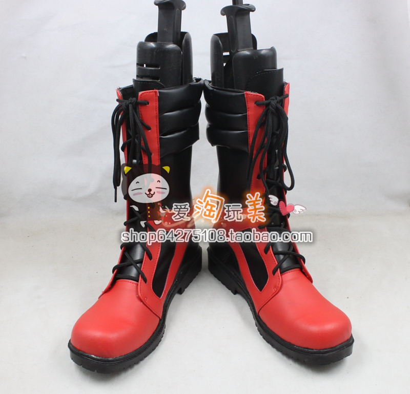 Marvel Comics Deadpool Dead pool Marvel Wade Wilson Legends cos Cosplay Shoes Boots shoe boot anime Halloween Christmas