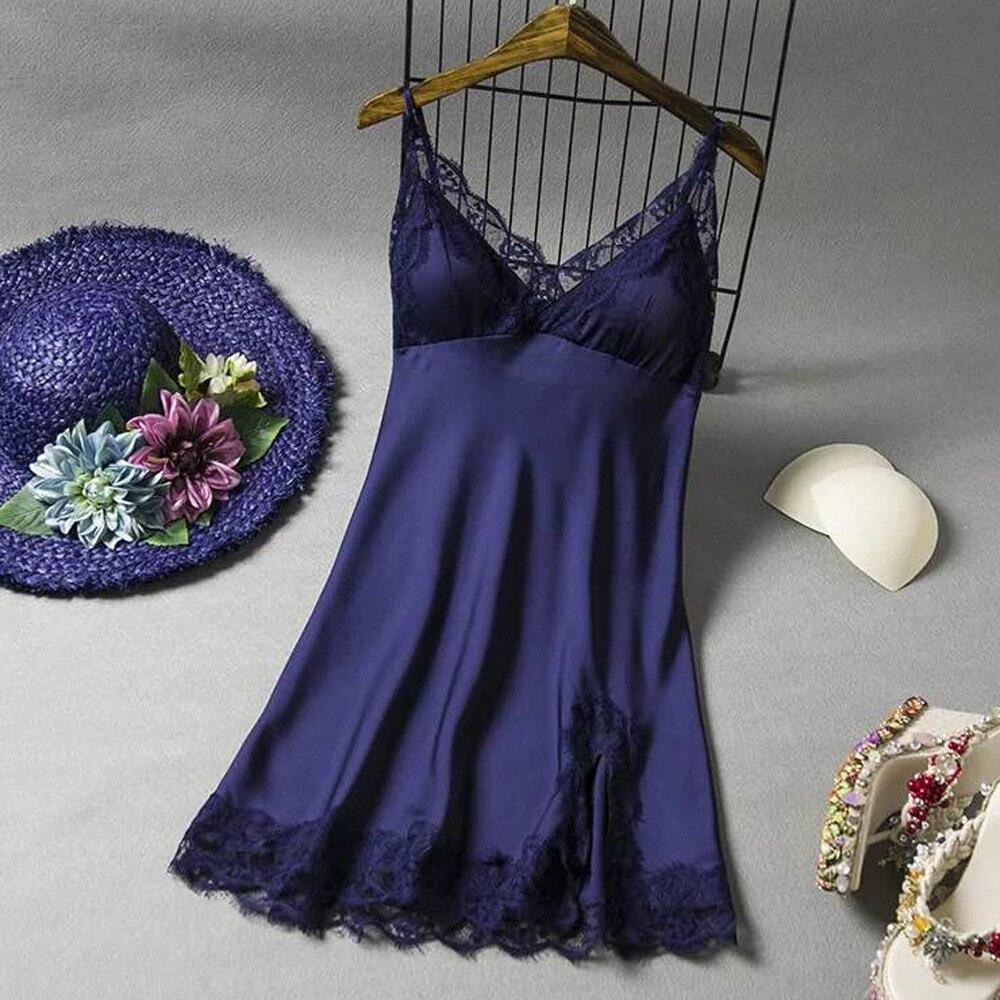 2019 New Arrival Womens Night Dress Lace Bow Lingerie Babydoll Nightwear Sleepskirt Hot Lady Female Sex lingerie Sleepwear 009