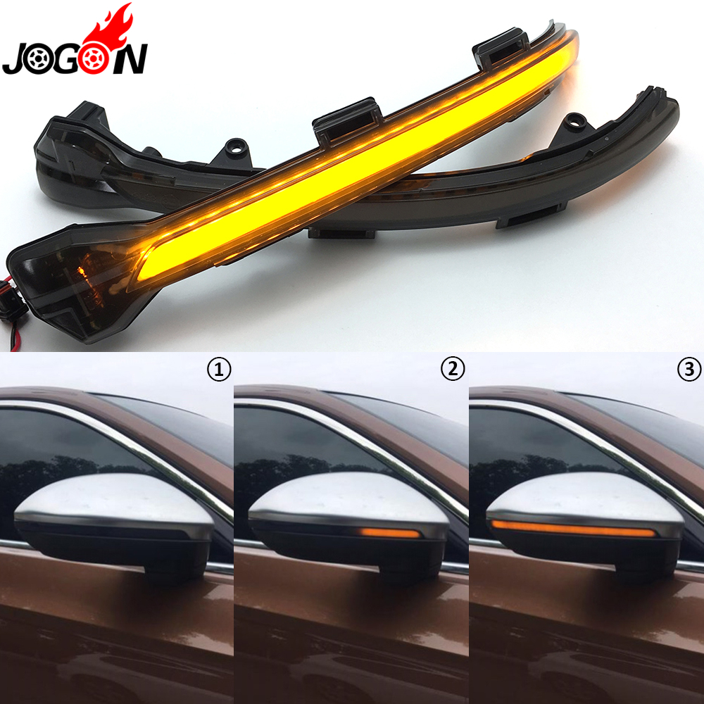 Black For VW Volkswagen Golf 7 GTI R GTE GTD MK7 MK7.5 2013-2018 Touran Side Wing Mirror Indicator LED Dynamic Turn Signal Light wing mirror glass indicator for vw golf 5