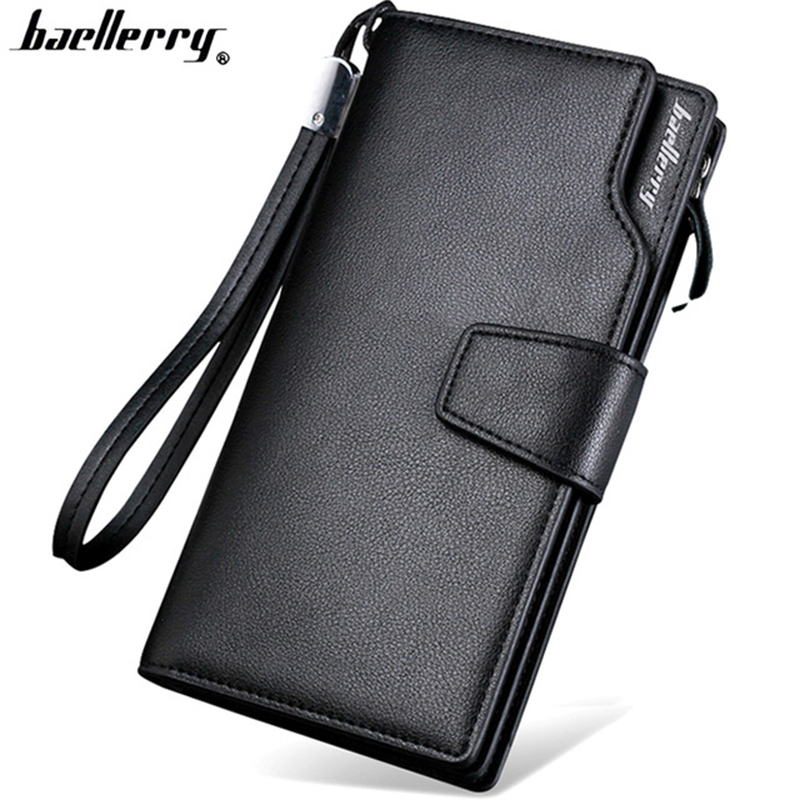Baellerry high quality long wallet for men Zipper purse for Men fashion coins mens wallets PU Leather bit clutch Lover Gift