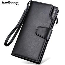 Baellerry högkvalitativ lång plånbok för män Zipper handväska för män mode mynt män plånböcker PU läder bit clutch älskare gåva