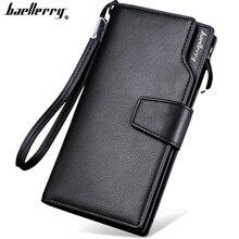 Baellerry berkualiti tinggi dompet panjang untuk lelaki dompet Zipper untuk Lelaki fesyen dompet lelaki dompet PU Kulit bit klac Hadiah Kekasih