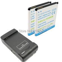New Extended 2x 3000 mAh Replacement Battery +1x  Desktop Travel Home Charger For Samsung Galaxy S4 S 4 IV i9500