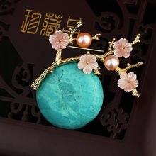 Женская брошь в форме цветка сливы farlena Винтажная ручной