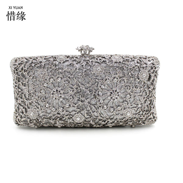 XIYUAN BRAND Women gold wedding Wallet Phone Pocket silver Hasp Coin Purse Famous Brand Female Card Holder Lady party Clutches casual weaving design card holder handbag hasp wallet for women