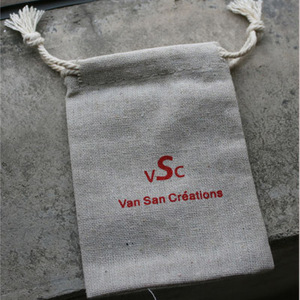 """Image 5 - 100 kişiselleştirilmiş Logo keten çanta 9x12cm (3 4/8 """"x 4 6/8"""") baskı alıcı tasarım veya şirket mağaza adı jüt hediye kesesi"""