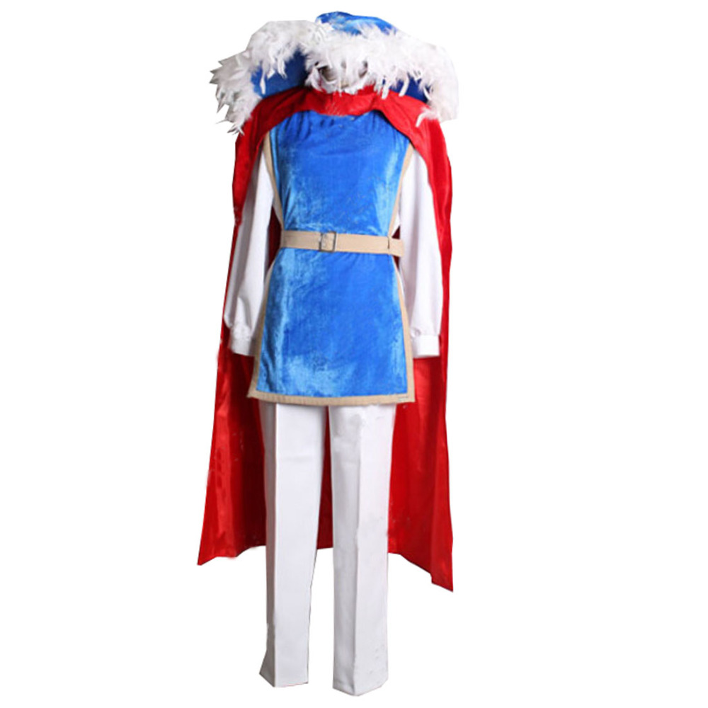 2018 Snow White Prince Charming cosplay costume Custom Made Prince Cosplay Wearing For Party