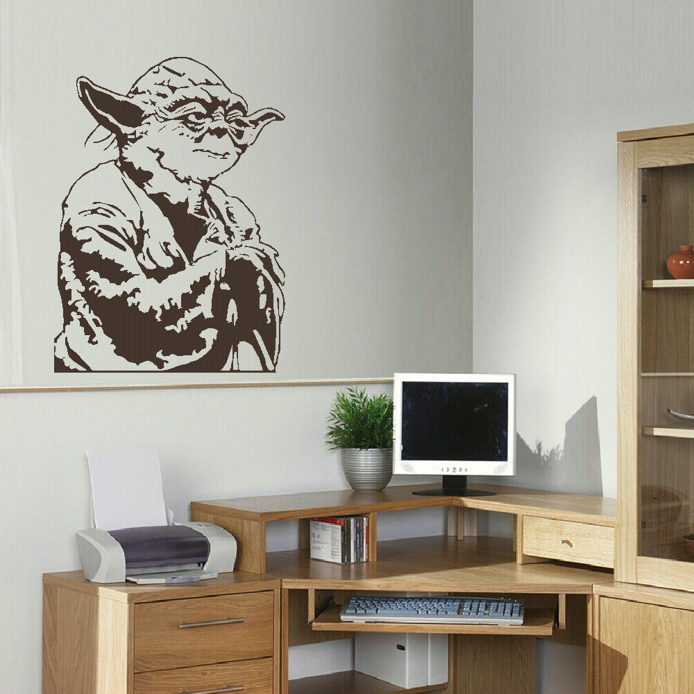Aliexpress.com : Buy LARGE YODA STAR WARS CHILDRENS BEDROOM WALL MURAL  STICKER TRANSFER VINYL CUT DECAL STENCIL HOME DECOR From Reliable Home  Decor ... Part 95
