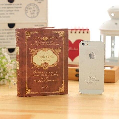 Vintage Journal Reisenden Notebook 64 Karat Hardcover Tagebuch Magie Shell Tasche Buch Planer Notizblock Notebooks