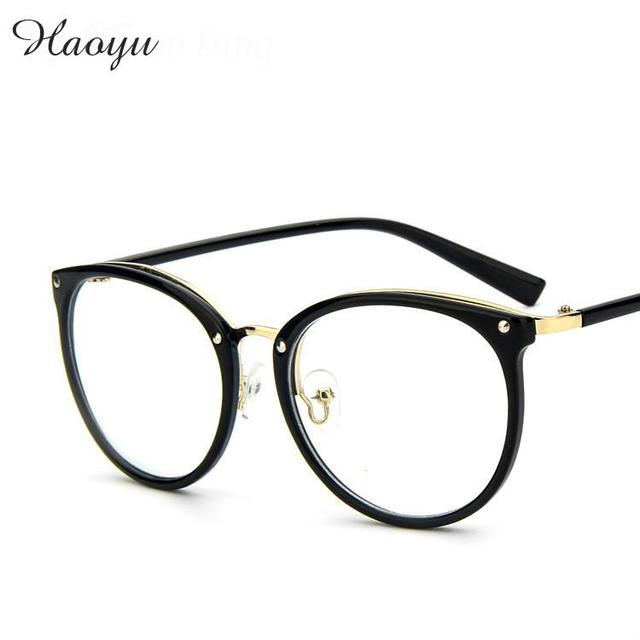13e9f83cb5e haoyu New fashion oversized clear frame glasses square high quality  designer brand frames for eyeglasses male female