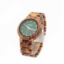 GNART10 Men's Wooden Watch Handmade Vintage Quartz Watches Natural Wooden Wrist Watch relogio masculino 2018