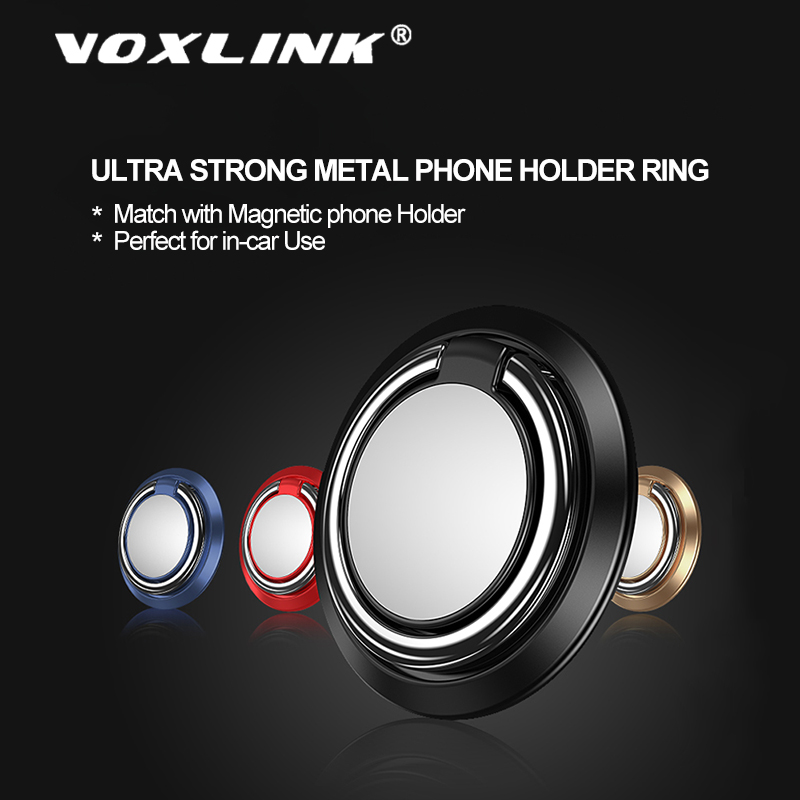 VOXLINK Premium metal 360Degree finger ring Smart phone mount support for iPhone x 9 8 Xiaomi Samsung Huawei Finger Ring Holder in Phone Holders Stands from Cellphones Telecommunications