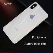 JOYCE Aurora Gradient Back Film For iPhone6s 7 8 plus Protective Soft Film For iphoneX XS MAX Transparent Color Back Sticker