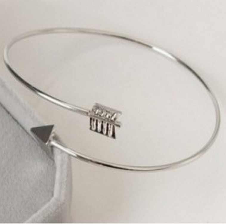 New Gothic Punk Lady Bracelet Cuff Bracelet Jewelery Adjustable Arrow Bracelet For Women Bracelets Bangles Wholesale