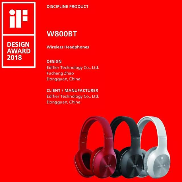 US $39 99 |EDIFIER W800BT Wireless Bluetooth Headphones Noise Isolation  Over Ear HIFi Bluetooth 4 0 Headset With Microphone For Smartphone-in