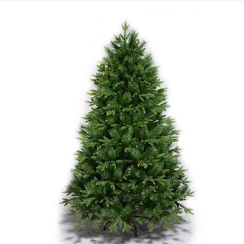 1,5 м 1,8 м 2,1 М 2,4 М 2,7 м Роскошные PE смешанный высокого моделирования песня елки рождественские отеля торговый аркадные украшения