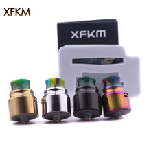 XFKM RDA A Single coil Atomizer Adjustable Airflow 24mm Atomizer Fit 510 e cigarette Super bright Electronics Vape Mod Vaporizer