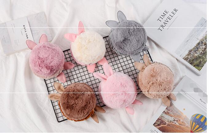 Cute Cat Face Pattern Warmer Earmuffs Soft Faux Fur Winter Outdoors Earmuffs for Women Girls