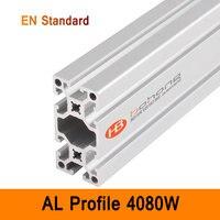4080 Вт Алюминиевый Профиль EN Стандартные скобы DIY промышленные AL экструзии прямоугольной формы CNC 3D DIY принтер части хорошая поверхность