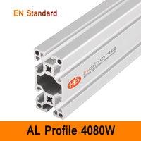 4080W Aluminium Profile EN Standard Brackets DIY Industrial AL Extrusion Rectangle Shape CNC 3D DIY Printer Parts Nice Surface