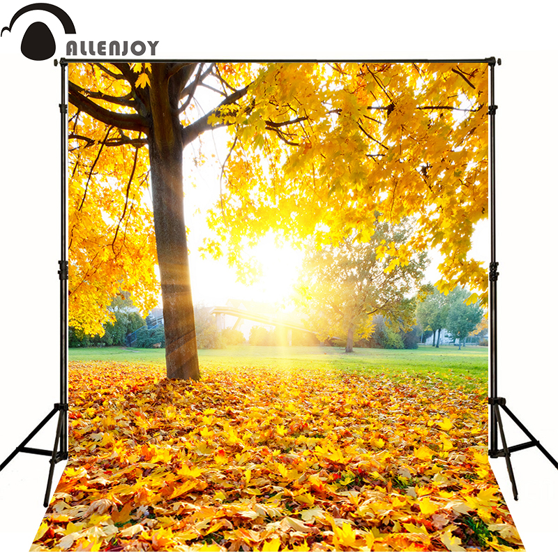 Allenjoy photographic background Autumn leaves golden sun kids vinyl boy send rolled photography backdrops allenjoy photographic background shovel excavators construction crane car kids backdrops send rolled camera fotografica wall