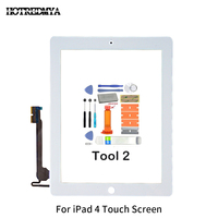 replacement home button Touch Screen Digitizer For Apple iPad2 3 4 5 Air Front Glass Display Touch Panel Replacement With Home Button Flex+Repair Tools (5)