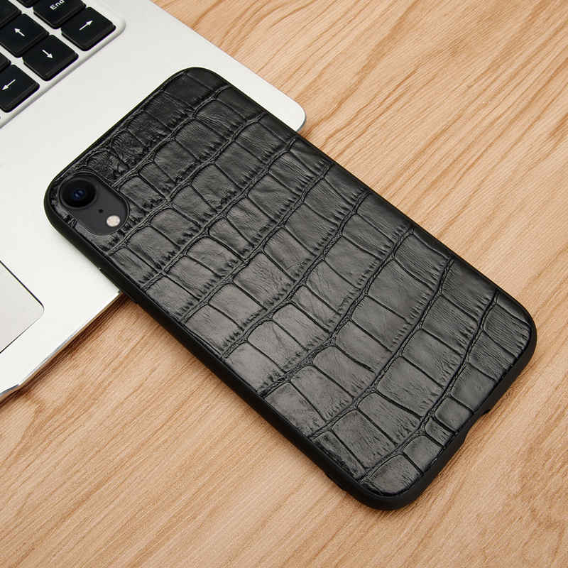 Genuine Leather Case For Iphone XR Case Anti Fall Cover Full Protector Hoesje Coque For Iphone XR Back Case Fundas Etui in Fitted Cases from Cellphones Telecommunications