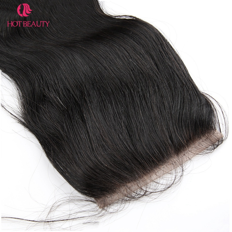 핫 뷰티 헤어 클로저 브라질 바디 웨이브 클로저 - 인간의 머리카락 (검은 색) - 사진 4