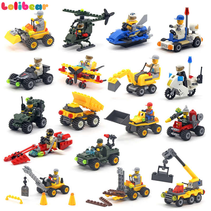 Mini Military Transport Toys Block Assemble Car Building Blocks Engineering Truck Compatible War Model Bricks Toys for Kids Boys