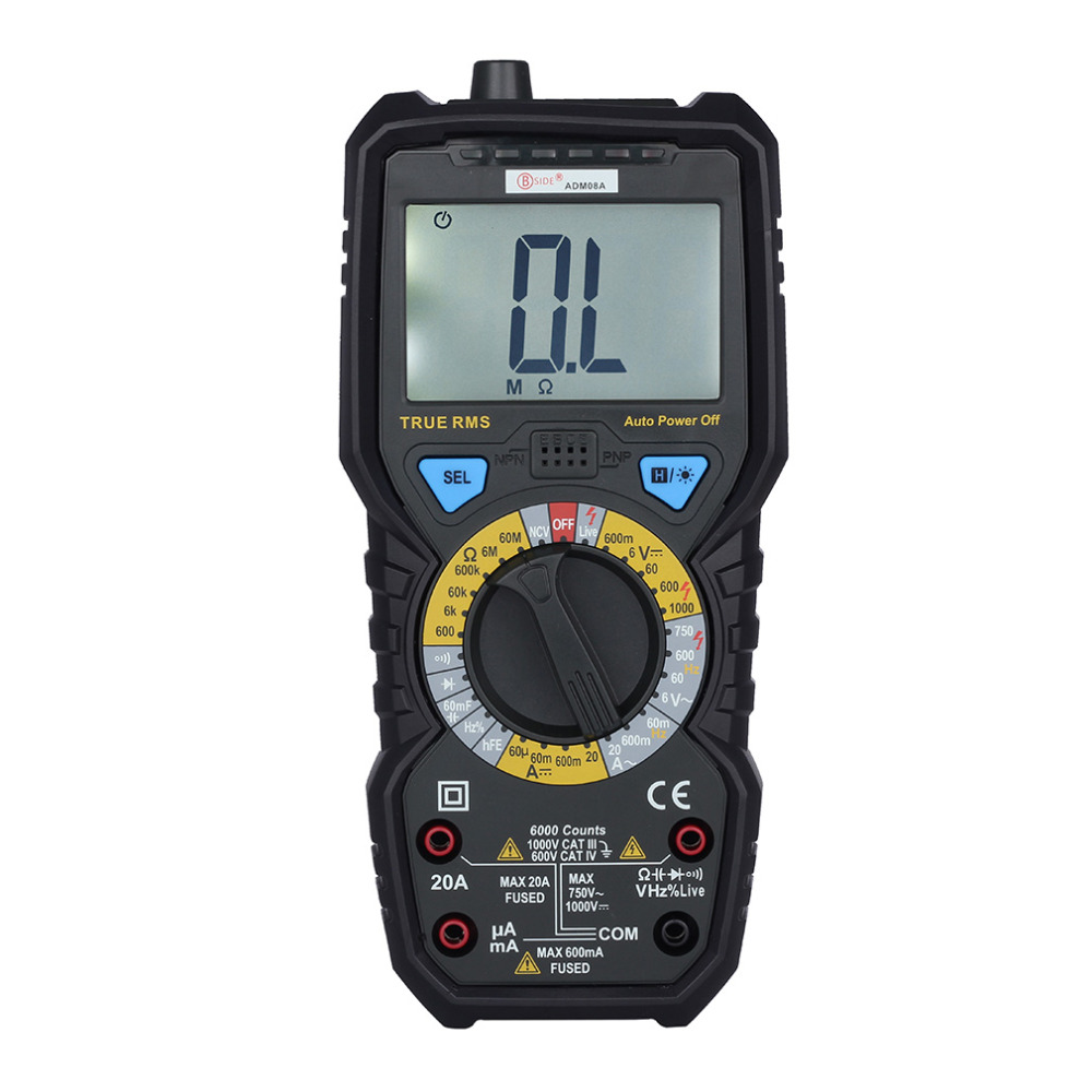 New BSIDE ADM08A True RMS Value Digital Multimeter Temperature Capacitance Frequency Test Really Effective Ranging Value Test  цены