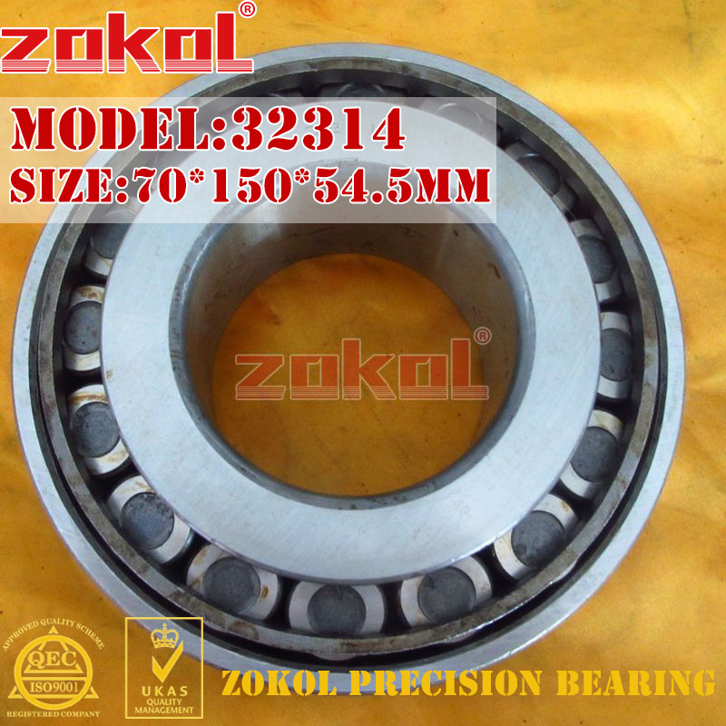 ZOKOL bearing 32314 7614E Tapered Roller Bearing 70*150*54.5mm na4910 heavy duty needle roller bearing entity needle bearing with inner ring 4524910 size 50 72 22