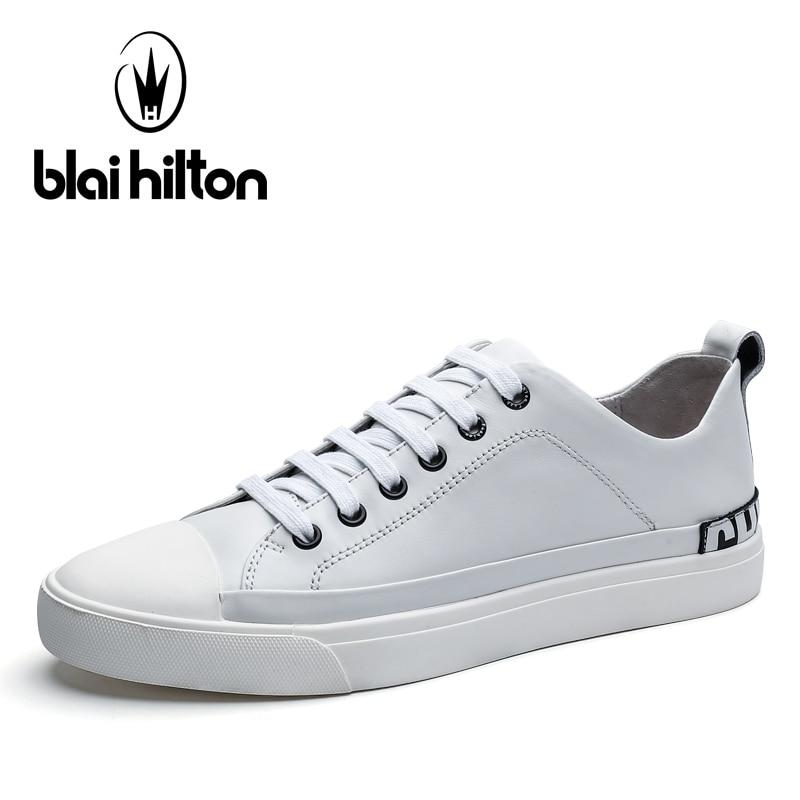 Blaibilton New Mens Shoes Casual 100% Genuine Leather Flats Letter Print Men Shoes Fashion Patchwork Designer Breathable SD7089