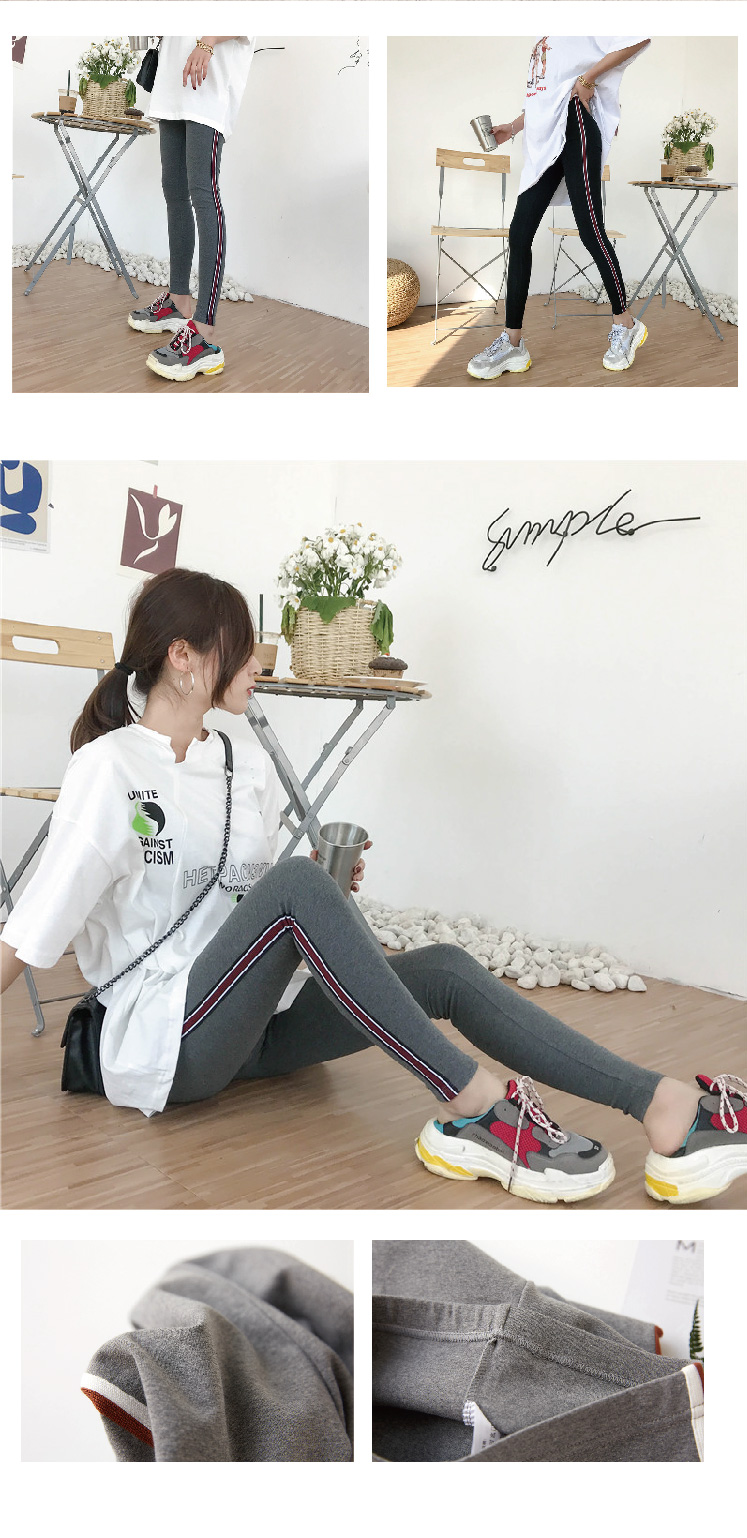 2019 New Fashion Women's Spring And Autumn High Elasticity And Good Quality Slim Fitness Capris Streetwear Leggings Cotton Pants 80
