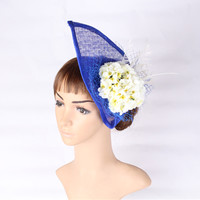 Multiple Color Select Sinamay Hat Silk Flower With Birdcage Fascinator Headwear Elegant Bridal Hair Accessory Occasion