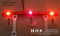 Xe dẫn đèn sương mù phía sau với laser chống va chạm hệ thống an ninh + di chuyển dẫn cho chạy nhà nước + nhấp nháy ánh sáng cao cho dừng nhà nước