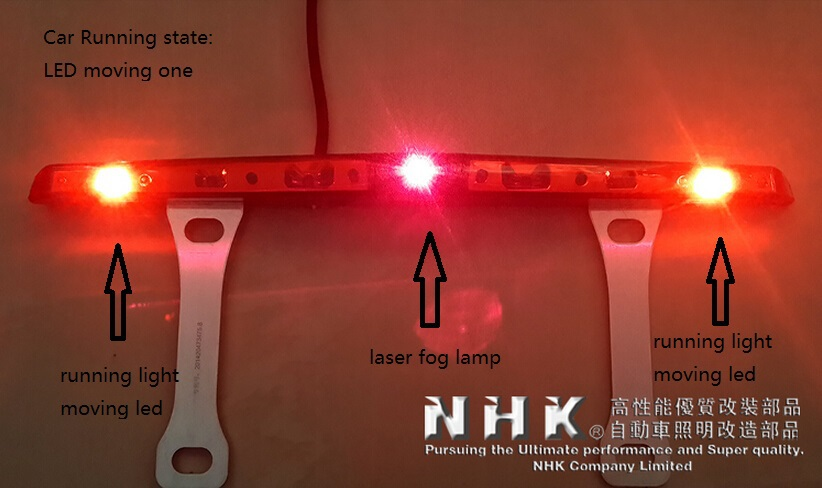 car led rear fog lamp with Laser Anti Collision Security system + moving led for run state + flashing high light for stop state car tracing cauda laser light for volkswagen vw jetta mk6 bora 2010 2014 special anti fog lamps rear anti collision lights
