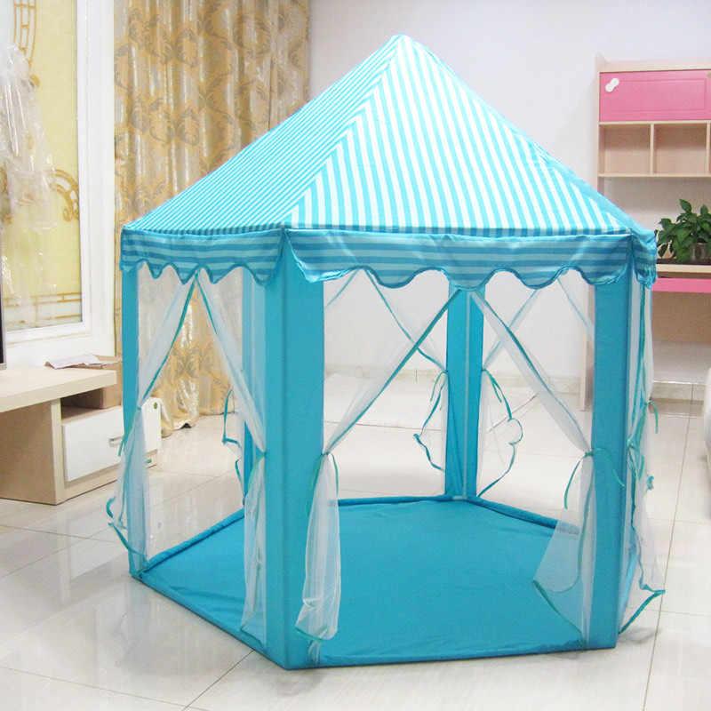 خيمة للعب على شكل كرات صغيرة محمولة قابلة للطي للأميرة قابلة للطي خيمة هدايا على شكل قلعة ألعاب خيمات للأطفال والرضع والبنات