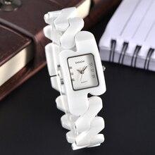 2017 CASIMA Luxury brand Women watches fashion casual elegant rectangle ceramic White quartz wrist watch Women Waterproof 100m