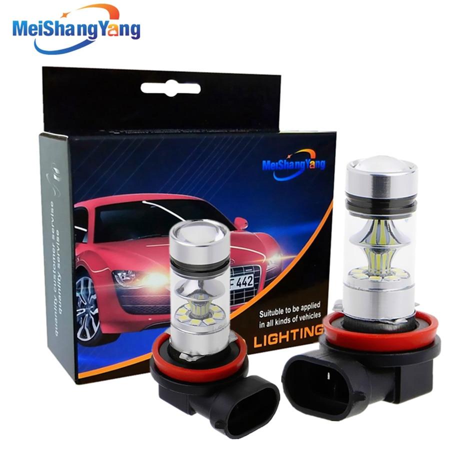 H8 H11 Super Bright 1250LM LED Bulbs Car Fog Lights Driving Tail Lamp Car Light Source Parking 12V-24V 100W 6000K White
