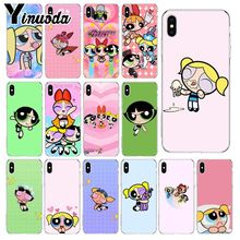 Yinuoda Super cute The Powerpuff Girls Soft Silicone Phone Case for Apple iPhone 8 7 6 6S Plus X XS MAX 5 5S SE XR Cellphones