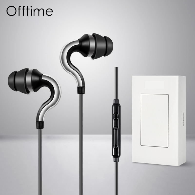 Offitme HF107 in Ear Headphones Smart Headset Super Bass earphone For DJ MP3 With Mic fone de ouvido audifonos auriculares