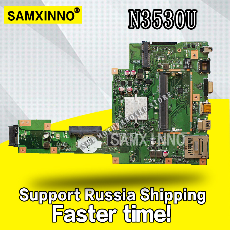 X553MA Motherboard REV2.0 N3530/3540cpu  For ASUS A553M X503M F553M laptop Motherboard X553MA Mainboard X553MA MotherboardX553MA Motherboard REV2.0 N3530/3540cpu  For ASUS A553M X503M F553M laptop Motherboard X553MA Mainboard X553MA Motherboard