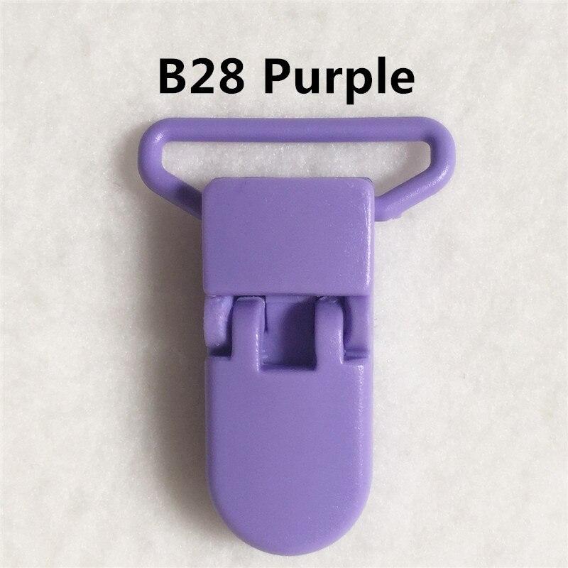 20 цветов смешанный) DHL 300 шт. Горячие формы D 2.5 см 1 ''Пластик маленьких Соски соска пустышка адаптер Chain Зажимы для 25 мм ленты - Цвет: B28