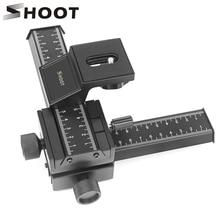 Curseur de Rail de mise au point Macro 4 voies pour Canon Sony Nikon Pentax tête de trépied de prise de vue rapprochée avec vis 1/4 pour appareil photo reflex numérique
